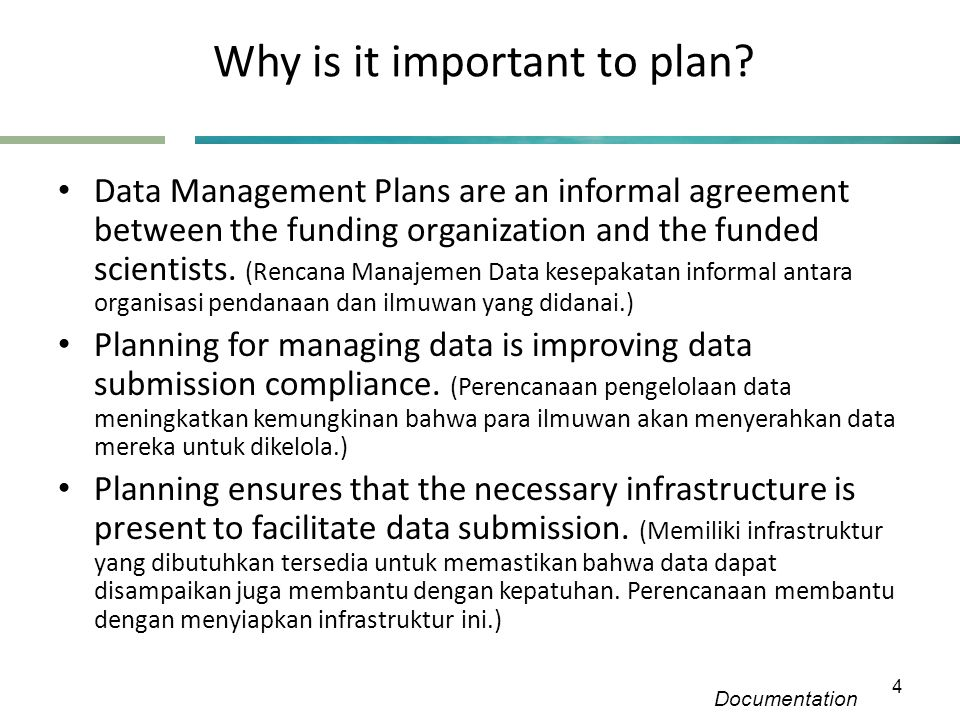 Why is it important to plan.