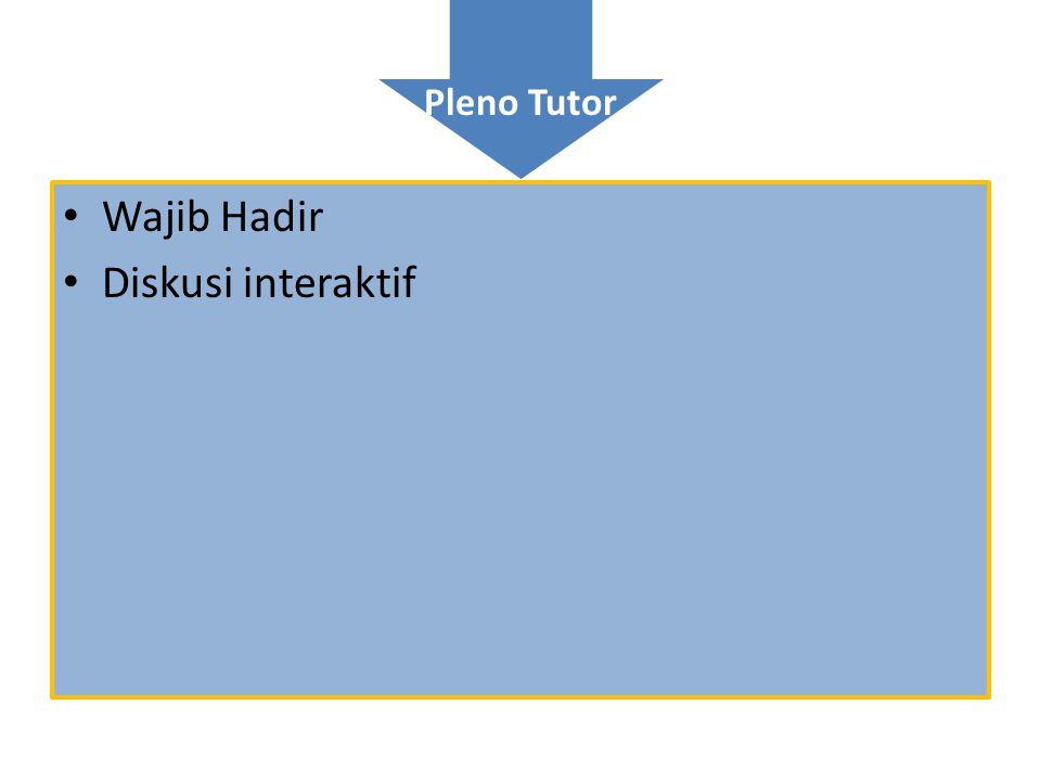 Pleno Tutor • Wajib Hadir • Diskusi interaktif