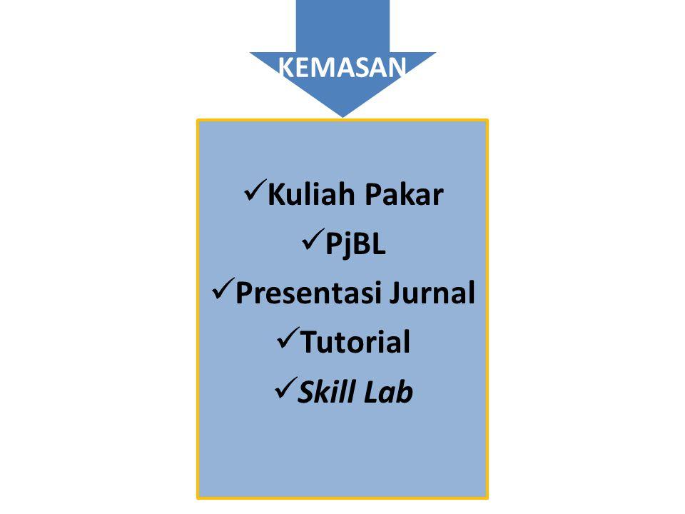  Kuliah Pakar  PjBL  Presentasi Jurnal  Tutorial  Skill Lab KEMASAN