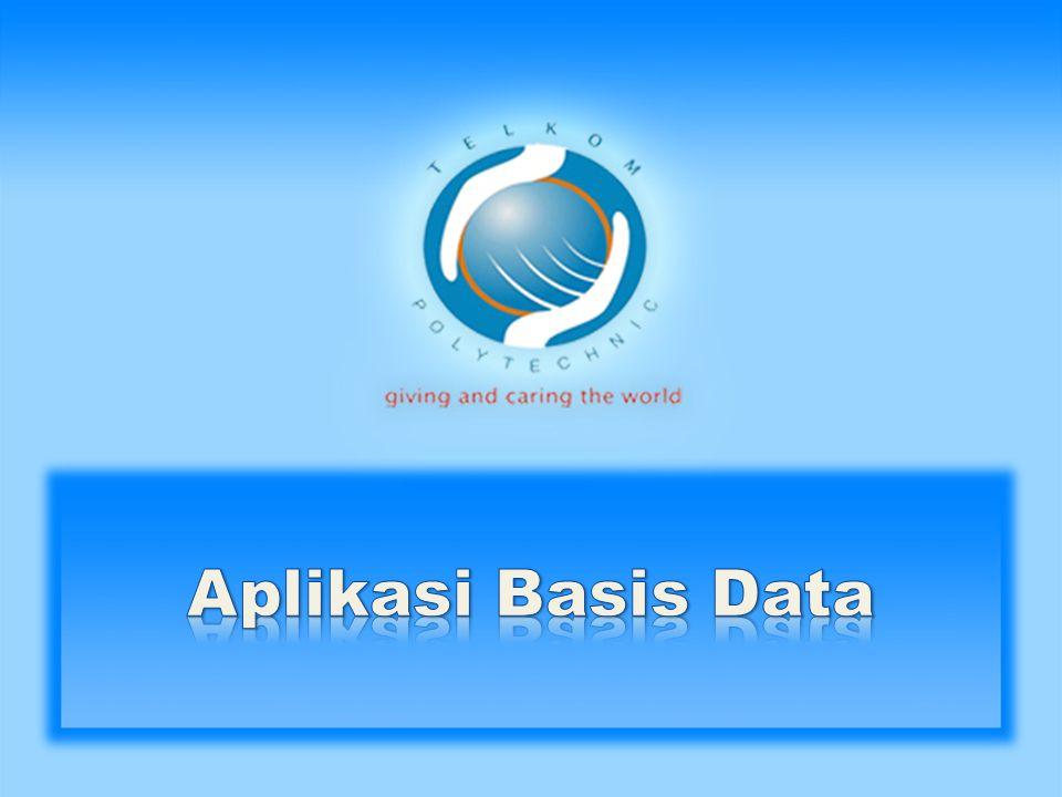• Sistem Pendukung Keputusan (Decision Support System/DSS) • Basis Data Spasial (Spatial Database) • Basis Data untuk Multimedia (Multimedia Database)