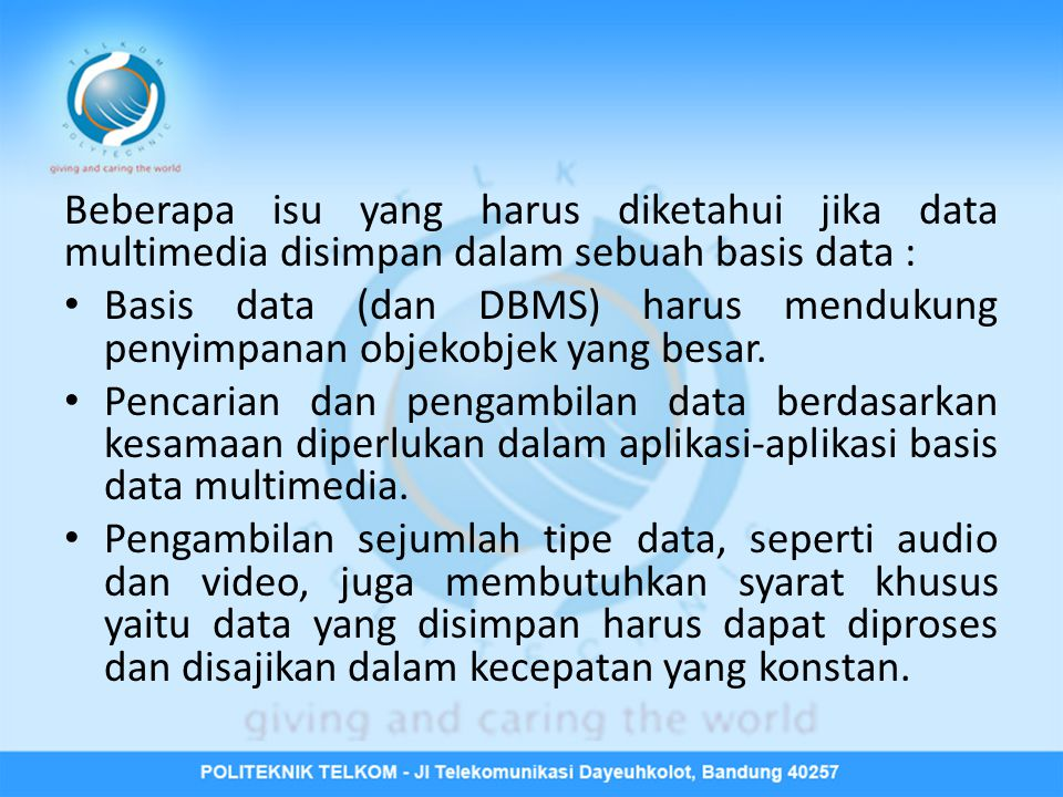 Format Data Multimedia • Gambar  JPEG (Joint Picture Experts Group).