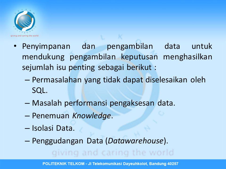 Ciri-ciri DSS • DSS adalah metodologi yang berfungsi untuk mendukung keputusan • DSS: – Flexible; – Adaptive; – Interactive; – GUI-based; – Iterative; and – Employs modeling.