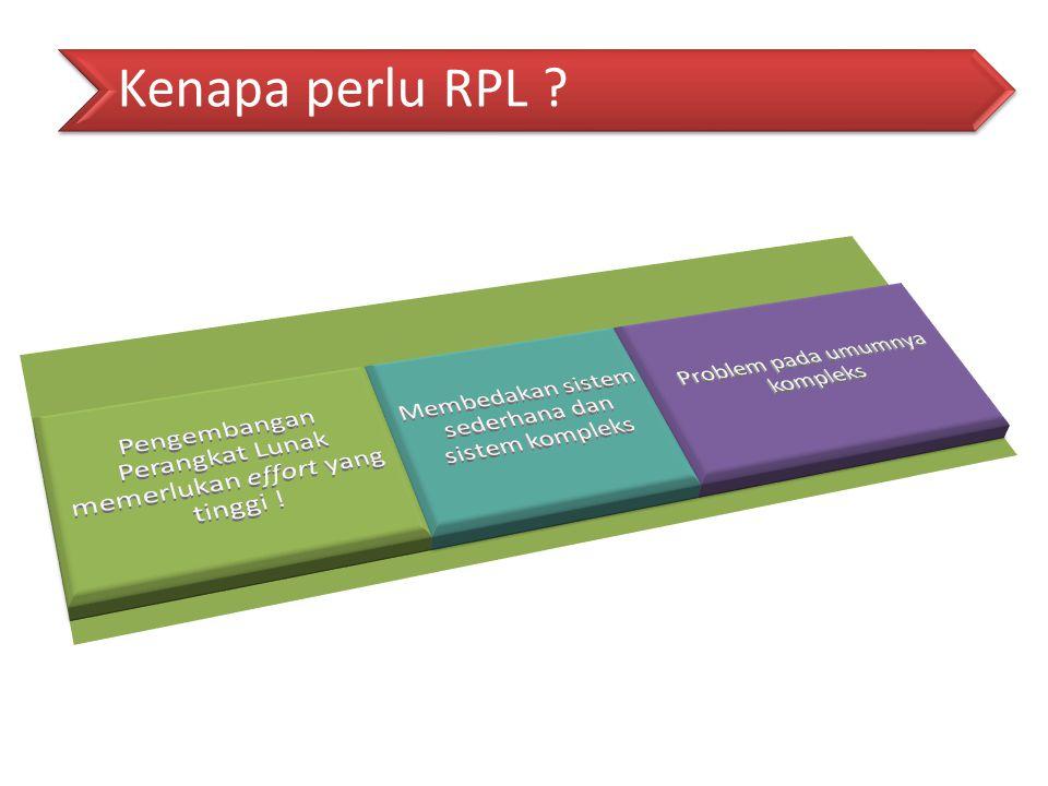 Kenapa perlu RPL ?
