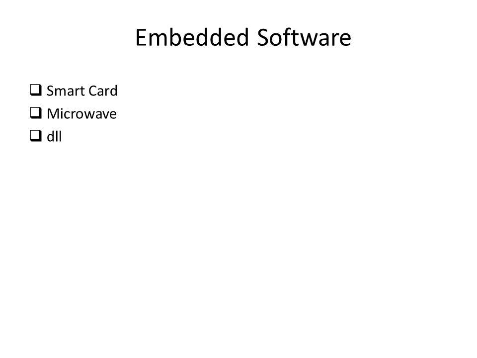 Embedded Software qSmart Card qMicrowave qdll