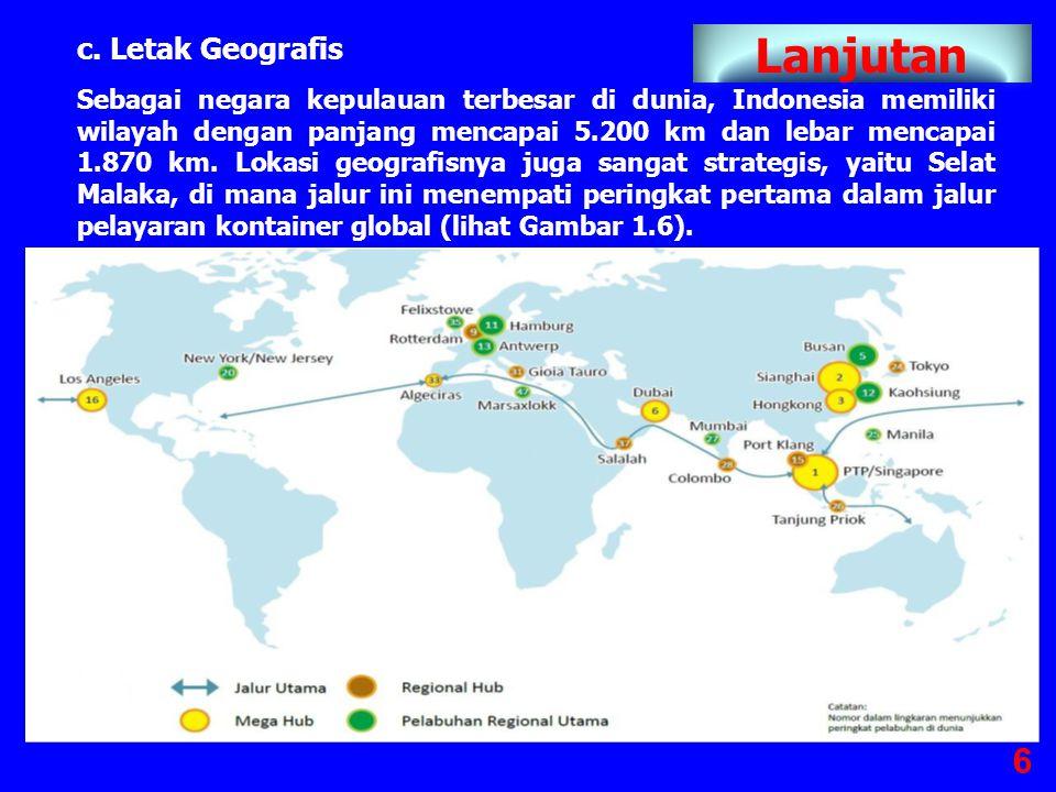 b. Sumber Daya Alam Indonesia adalah negara yang kaya dengan potensi sumber daya alam, baik yang terbarukan (hasil bumi) maupun yang tidak terbarukan