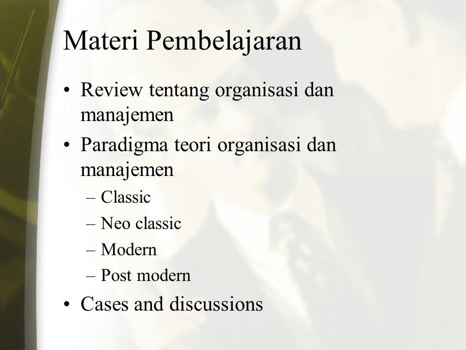 Agenda Kuliah Kelas A: Teori Organisasi dan Manajemen Publik Ali Rokhman Program Magister Ilmu Administrasi