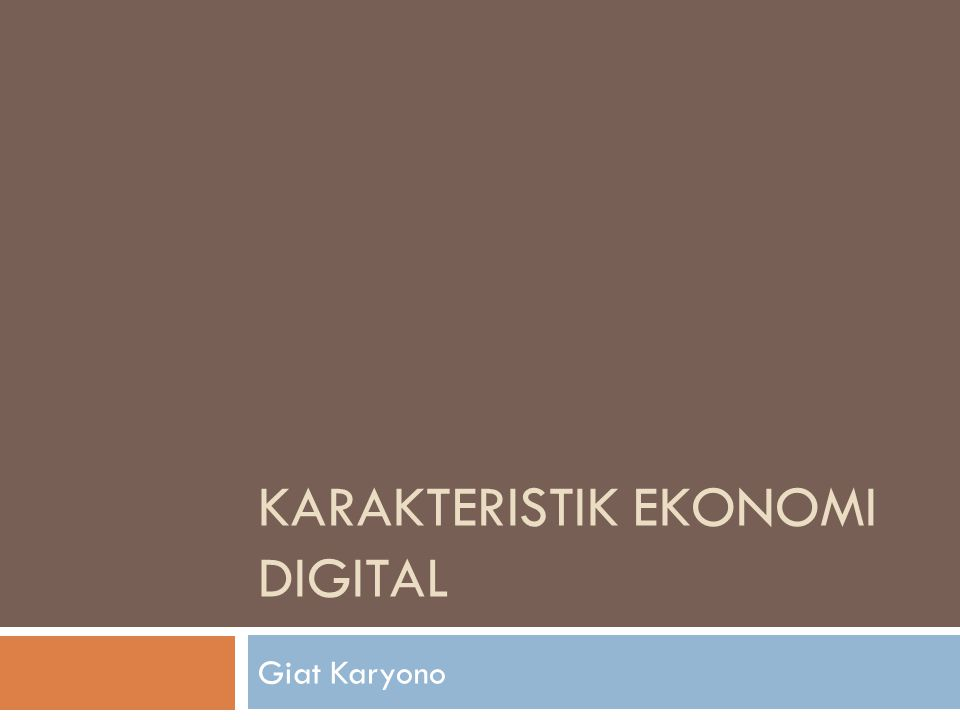 Ekonomi digital didefinisikan oleh Amir Hartman sebagai the virtual arena in which business actually is conducted, value is created and exchanged, transactions occur, and one-to-one relationship mature by using any internet initiative as medium of exchange (Hartman, 2000).