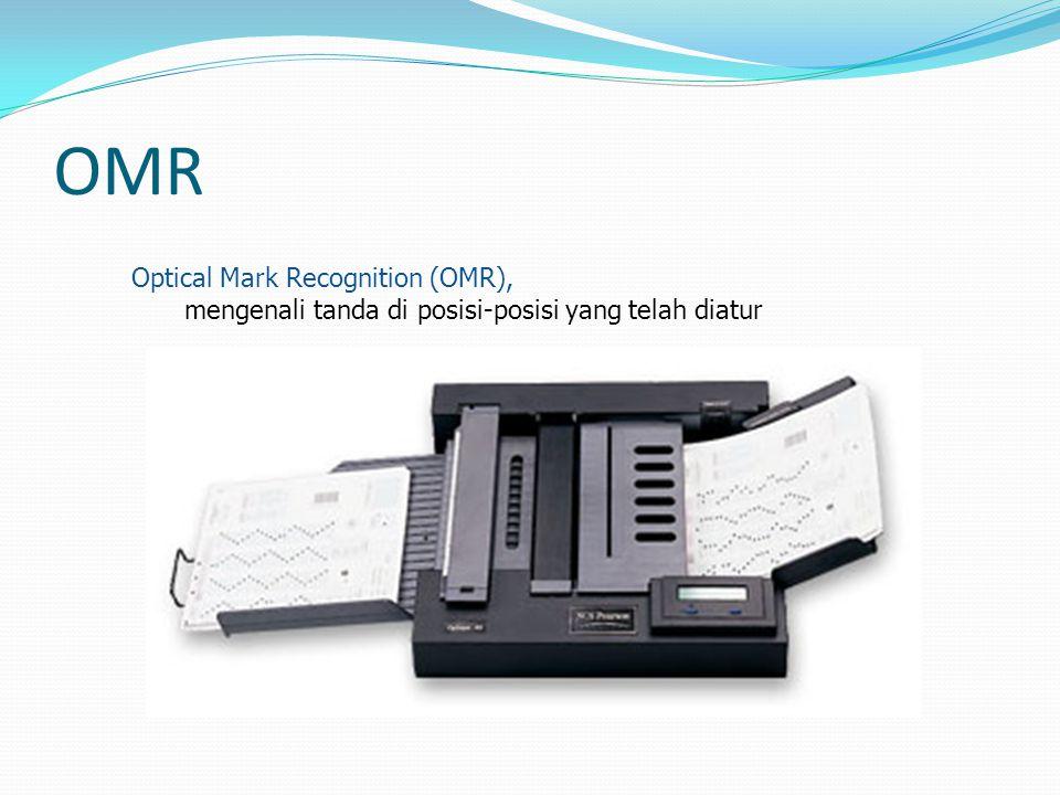 OMR Optical Mark Recognition (OMR), mengenali tanda di posisi-posisi yang telah diatur