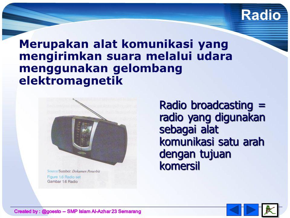 Televisi telah digunakan dalam bidang sosial, bisnis dan sains.