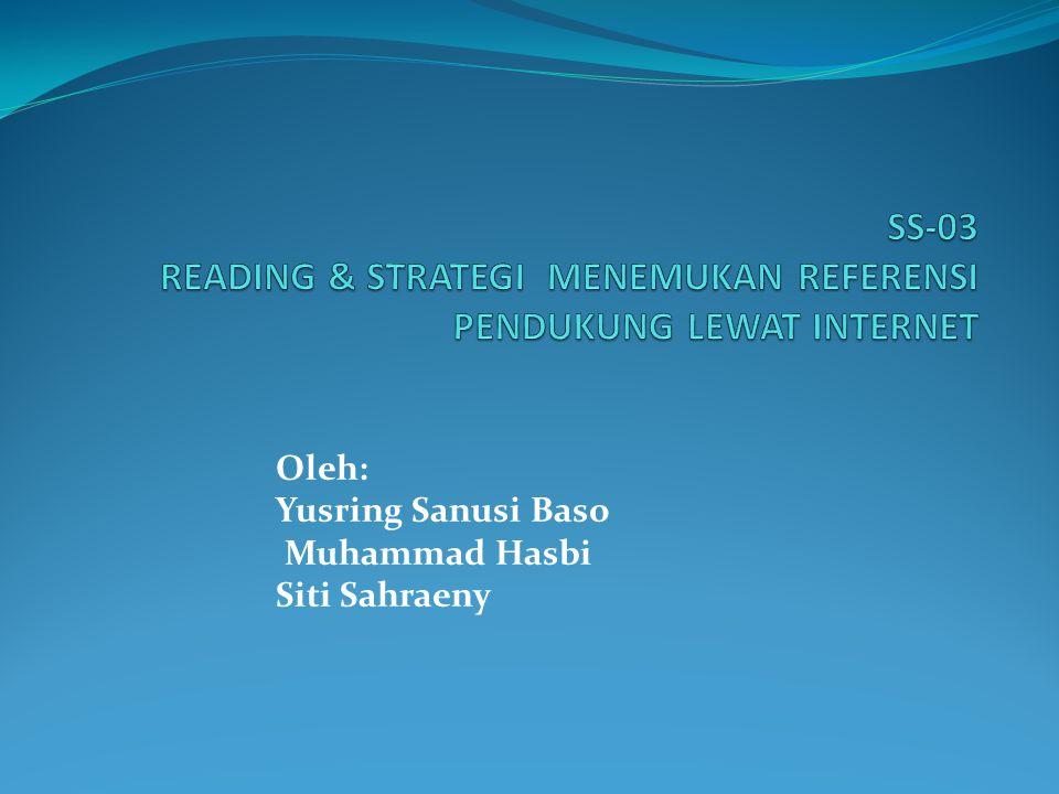Oleh: Yusring Sanusi Baso Muhammad Hasbi Siti Sahraeny
