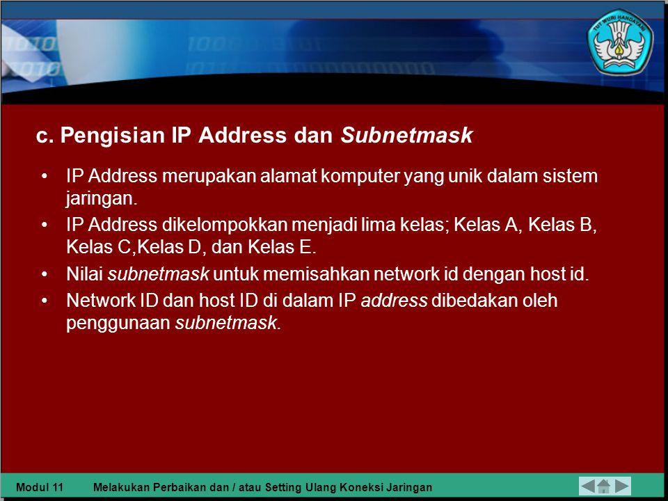 b.Pemilihan Protocol Keterangan Gambar: 1.Memilih add pada configuration Network 2.