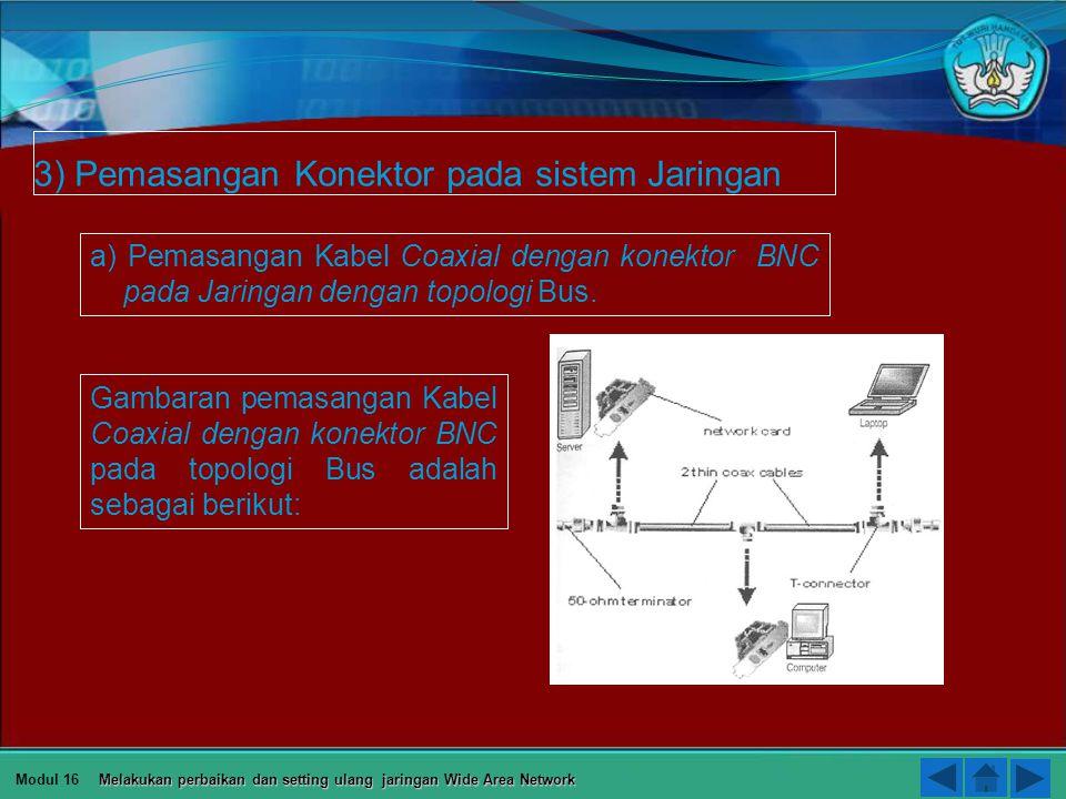 Skema Pengkabelan Silang (Crossover Cable) adalah antara konektor 1 dengan konektor 2 sebagai berikut: Orange Putih Orange Hijau Putih Biru Biru Putih