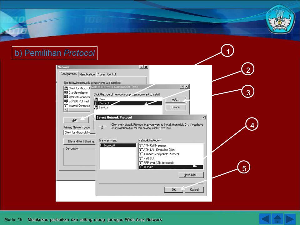a b Modul 16 Melakukan perbaikan dan setting ulang jaringan Wide Area Network