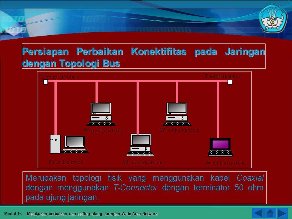b) Pemilihan Protocol 1 2 3 4 5 Modul 16 Melakukan perbaikan dan setting ulang jaringan Wide Area Network