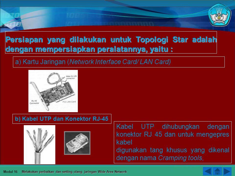 Thanks for your attention Modul 16 Melakukan perbaikan dan setting ulang jaringan Wide Area Network DEPAN