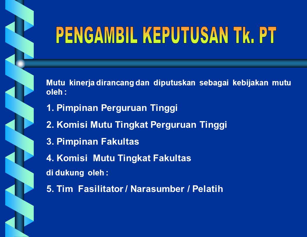 PENGORGANISASIAN PERBAIKAN MUTU DAN UNSUR-UNSUR PENDUKUNGNYA DAN oleh Margono Slamet Institut Pertanian Bogor