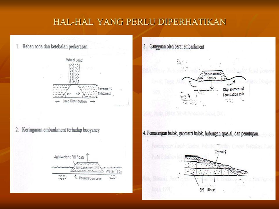 27 Pemakaian EPS Block • EPS diletakkan pada kondisi drainase yang baik sesuai dengan prinsip Hukum Archimedes. Muka air tanah diharuskan berada di at