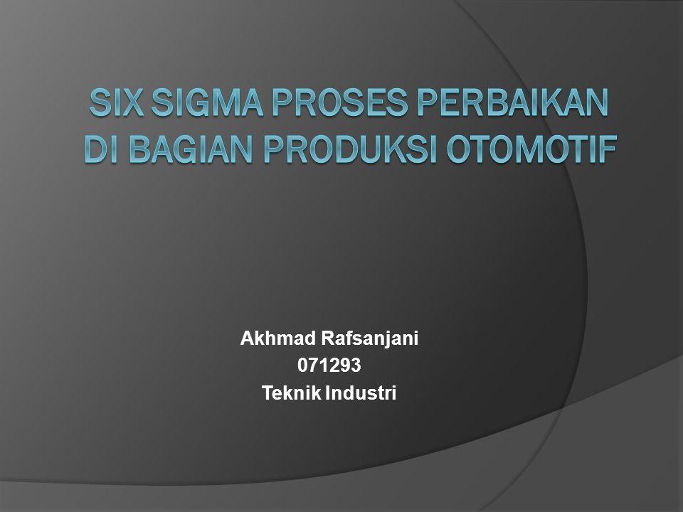 Akhmad Rafsanjani 071293 Teknik Industri