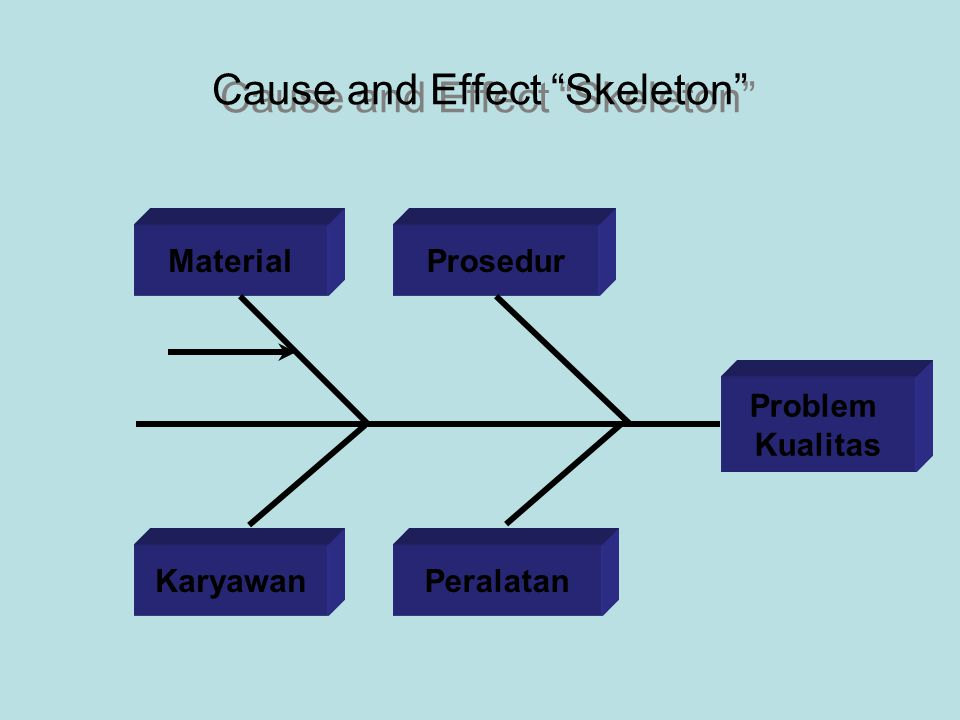 Cause and Effect Skeleton Problem Kualitas Material PeralatanKaryawan Prosedur