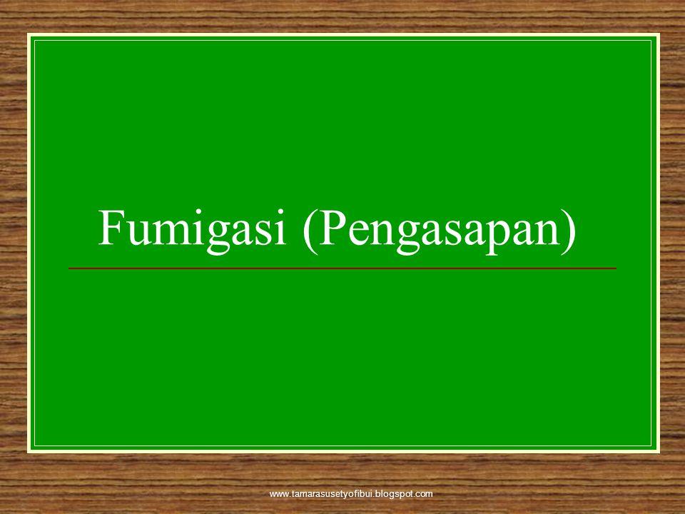 www.tamarasusetyofibui.blogspot.com Fumigasi (Pengasapan)