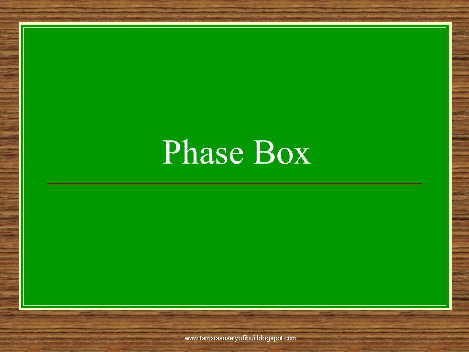 www.tamarasusetyofibui.blogspot.com Phase Box