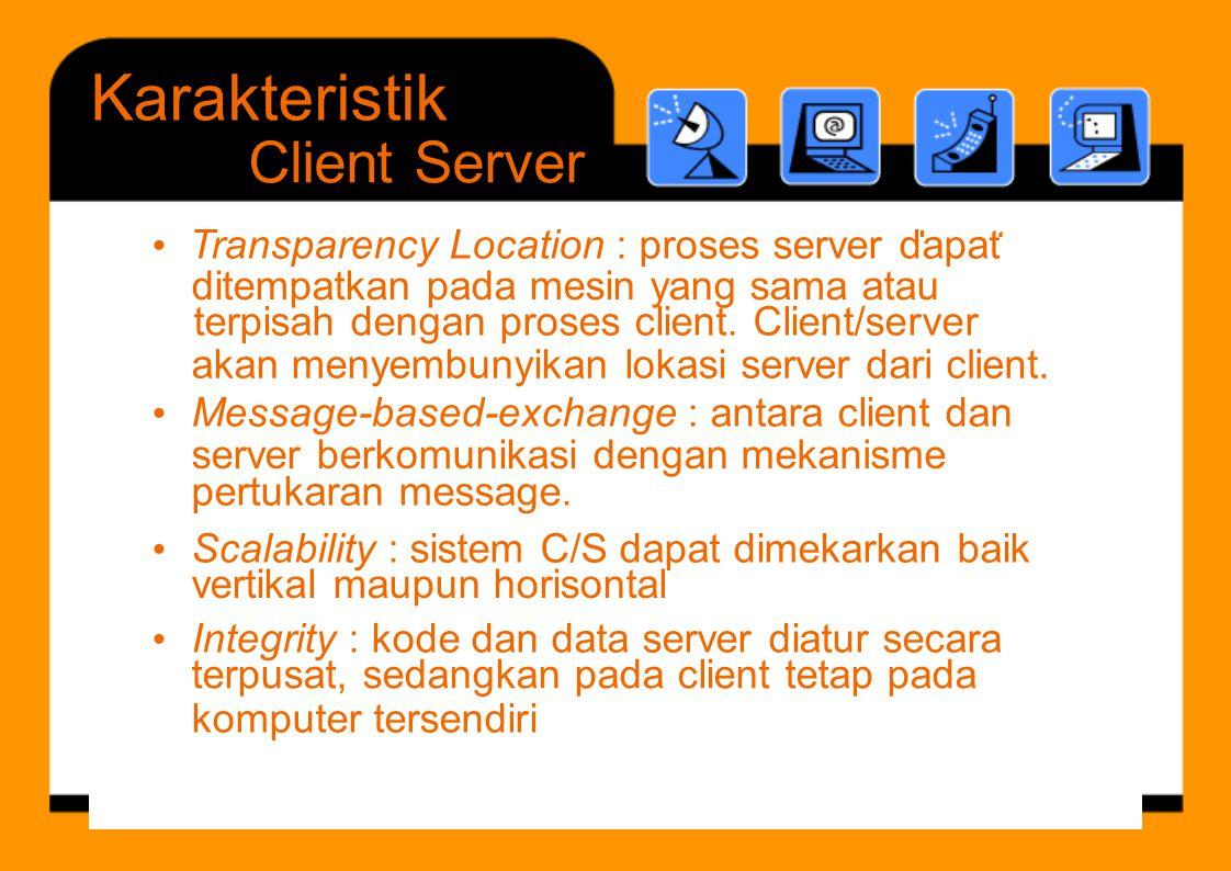 d t S l bilit Integrity ditempatkan pada mesin yang sama atau akan menyembunyikan lokasiserver dari client. server berkomunikasi denganmekanisme verti