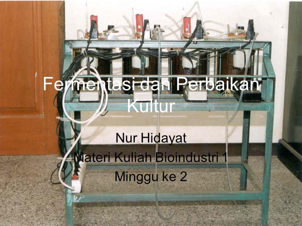 Fermentasi dan Perbaikan Kultur Nur Hidayat Materi Kuliah Bioindustri 1 Minggu ke 2