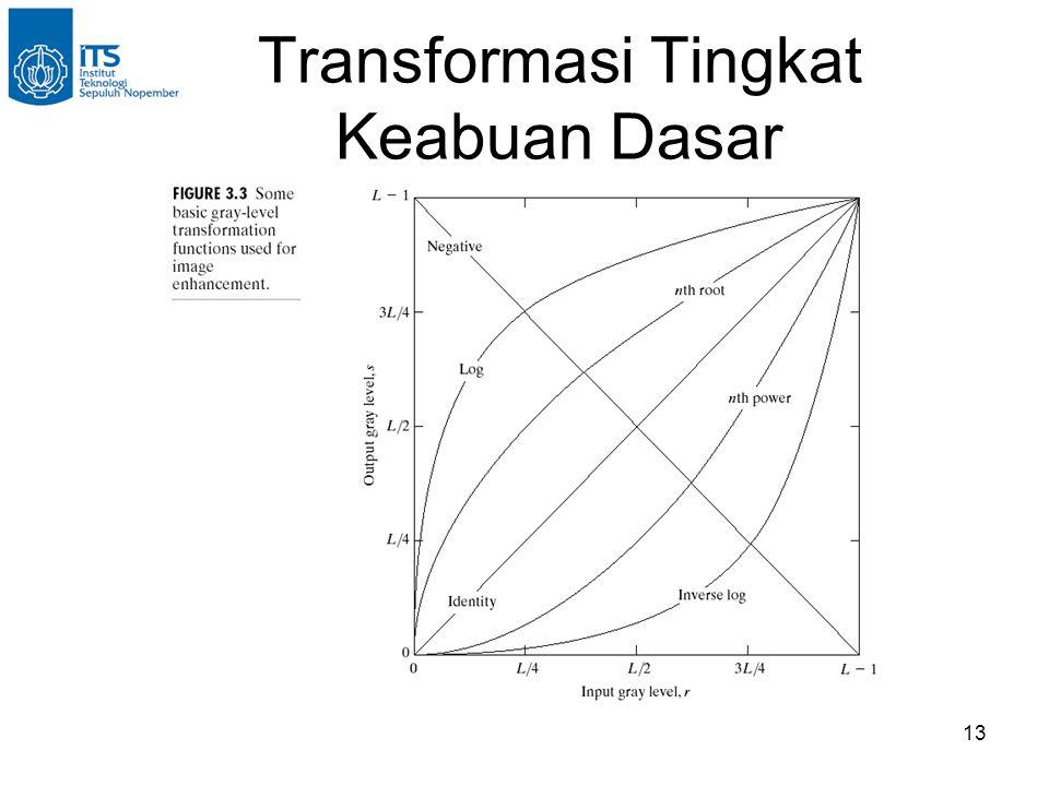 13 Transformasi Tingkat Keabuan Dasar