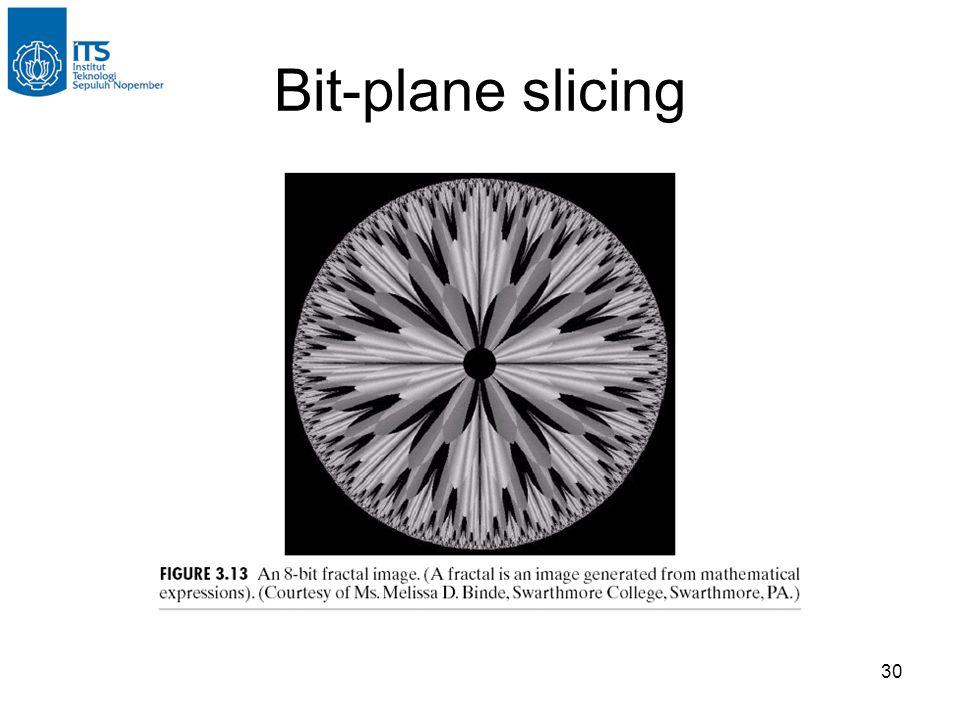 30 Bit-plane slicing