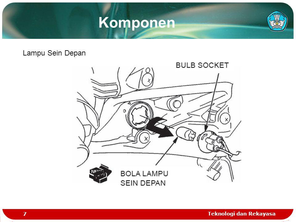 Teknologi dan Rekayasa 7 Lampu Sein Depan Komponen