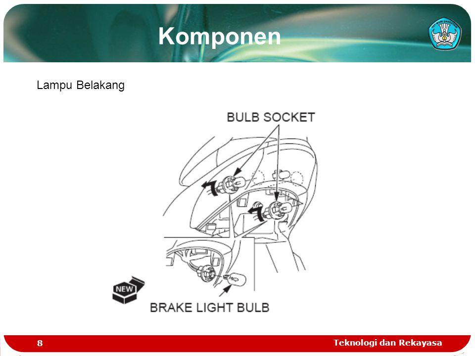 Teknologi dan Rekayasa 8 Lampu Belakang Komponen