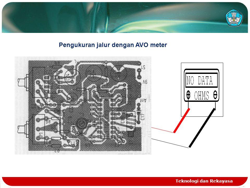 Teknologi dan Rekayasa Pengukuran jalur dengan AVO meter