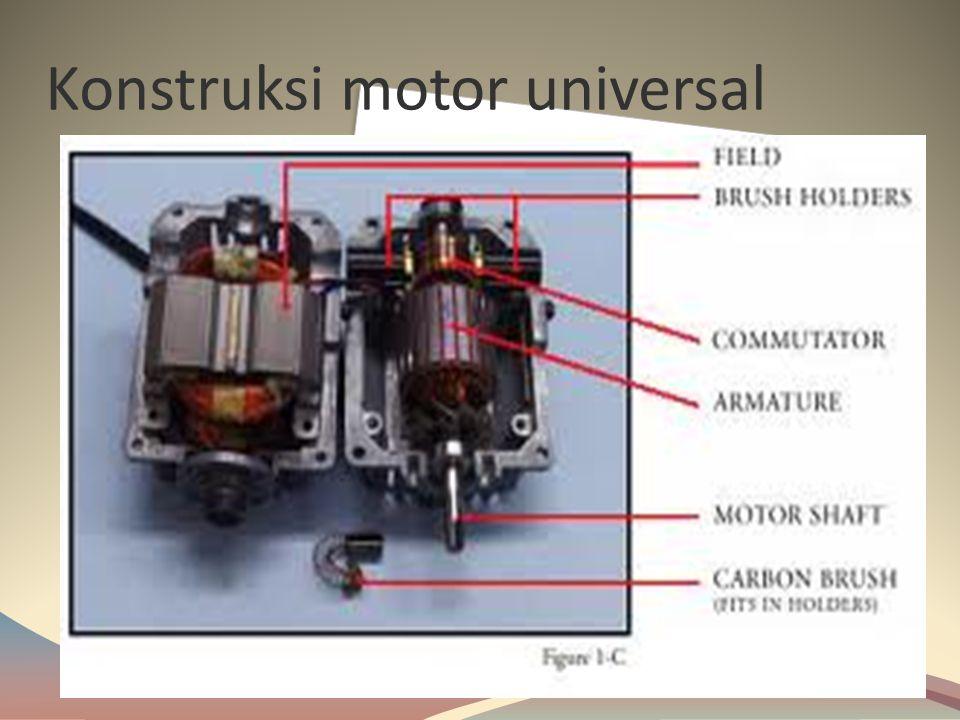  Pada ujung poros rotor (shaft) dibuat roda gigi memanjang atau lubang (hole) baut untuk memindahkan beban atau meneruskan putaran motor ke alata lai