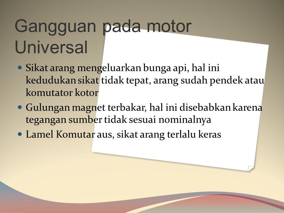 Rotor motor universal