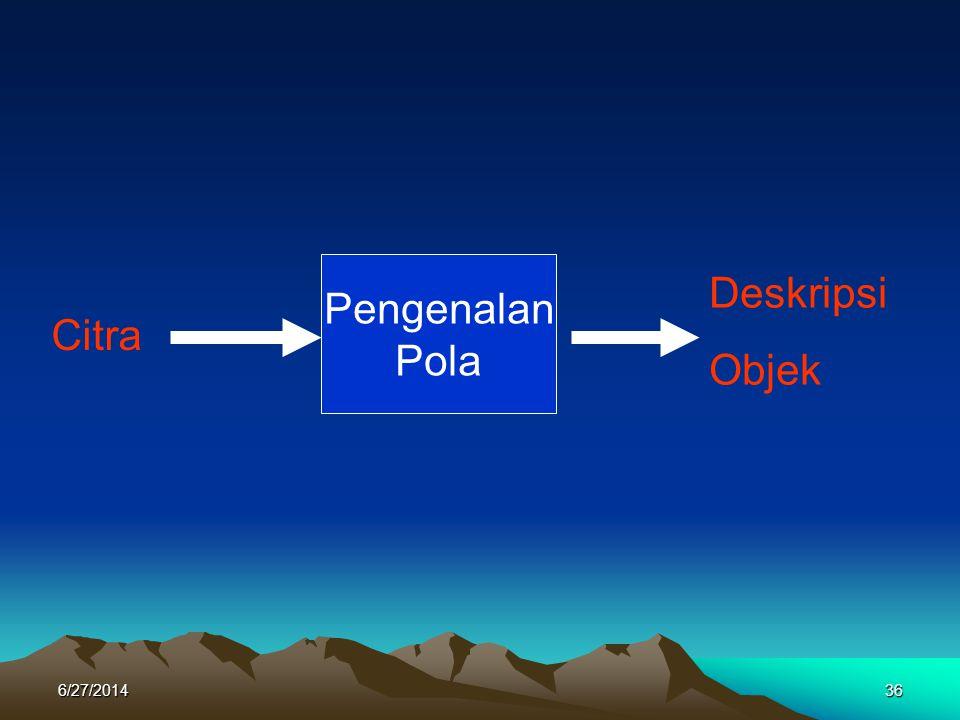 Citra Pengenalan Pola Deskripsi Objek 6/27/201436