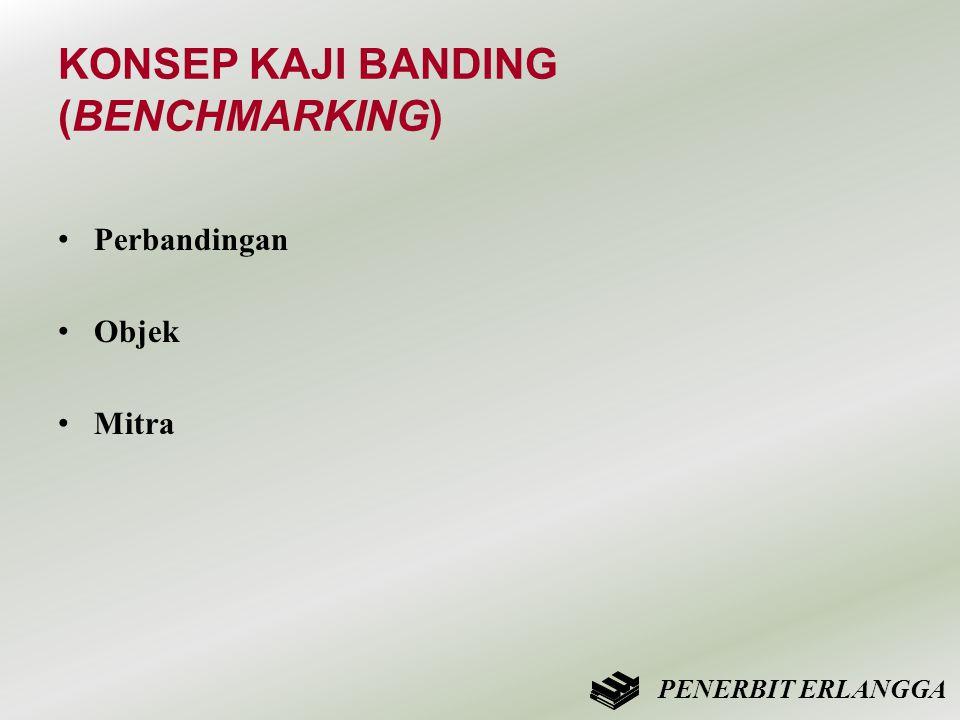 KONSEP KAJI BANDING (BENCHMARKING) • Perbandingan • Objek • Mitra PENERBIT ERLANGGA