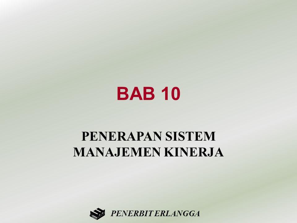BAB 10 PENERAPAN SISTEM MANAJEMEN KINERJA PENERBIT ERLANGGA