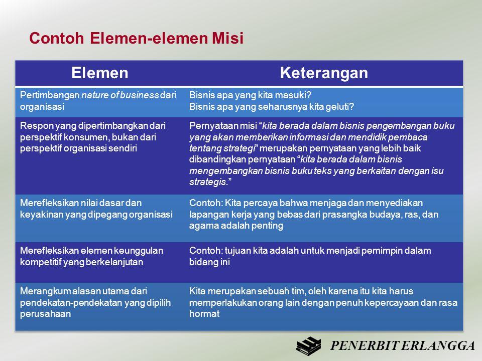 Contoh Elemen-elemen Misi PENERBIT ERLANGGA