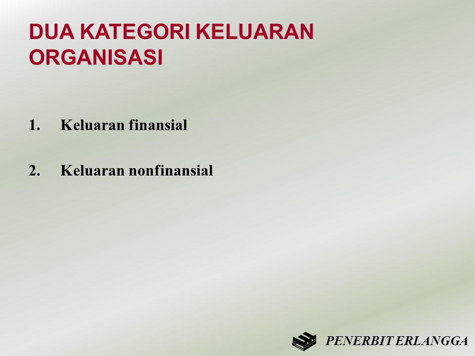 DUA KATEGORI KELUARAN ORGANISASI 1.Keluaran finansial 2. Keluaran nonfinansial PENERBIT ERLANGGA