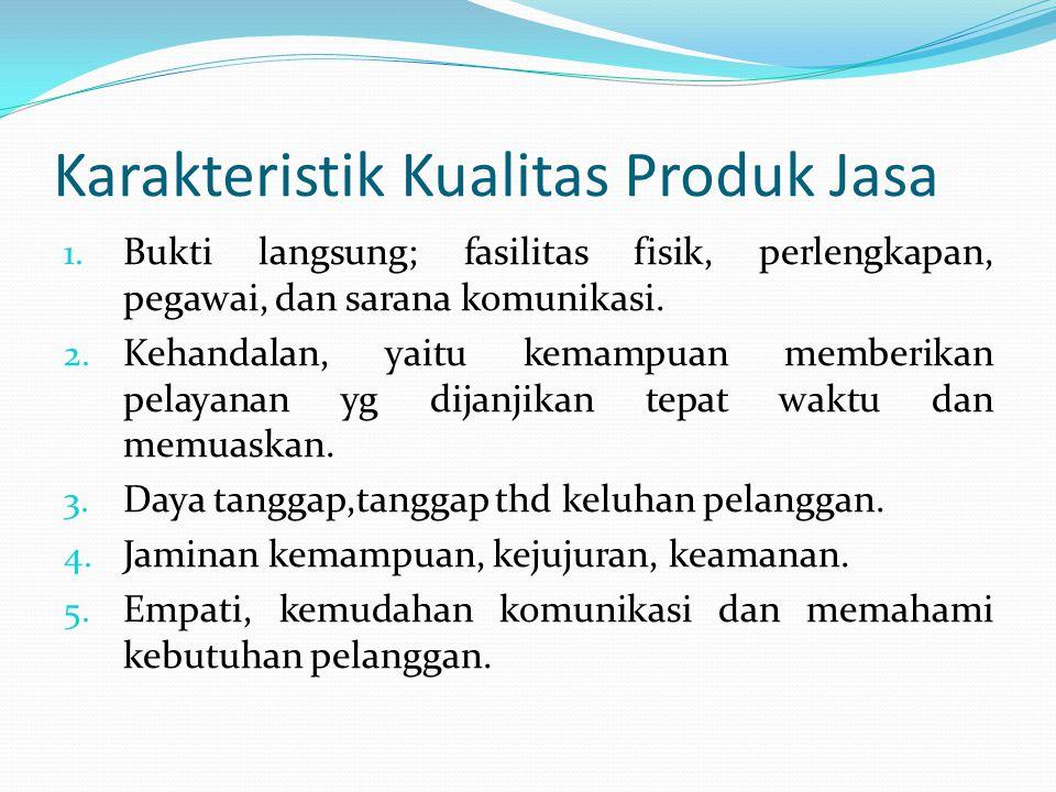 Karakteristik Kualitas Produk Jasa 1.