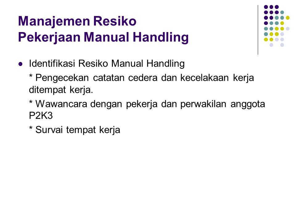 Proses Manajemen Risiko Pekerjaan Manual Handling