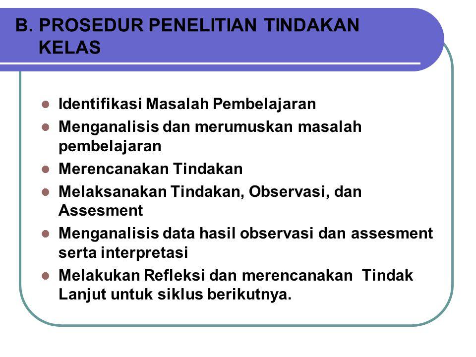 CONTOH  Bagaimana meningkatkan prestasi belajar mahasiswa semester IV PPB FIP IKIP PGRI Semarang melalui model pembelajaran berbasis masalah.