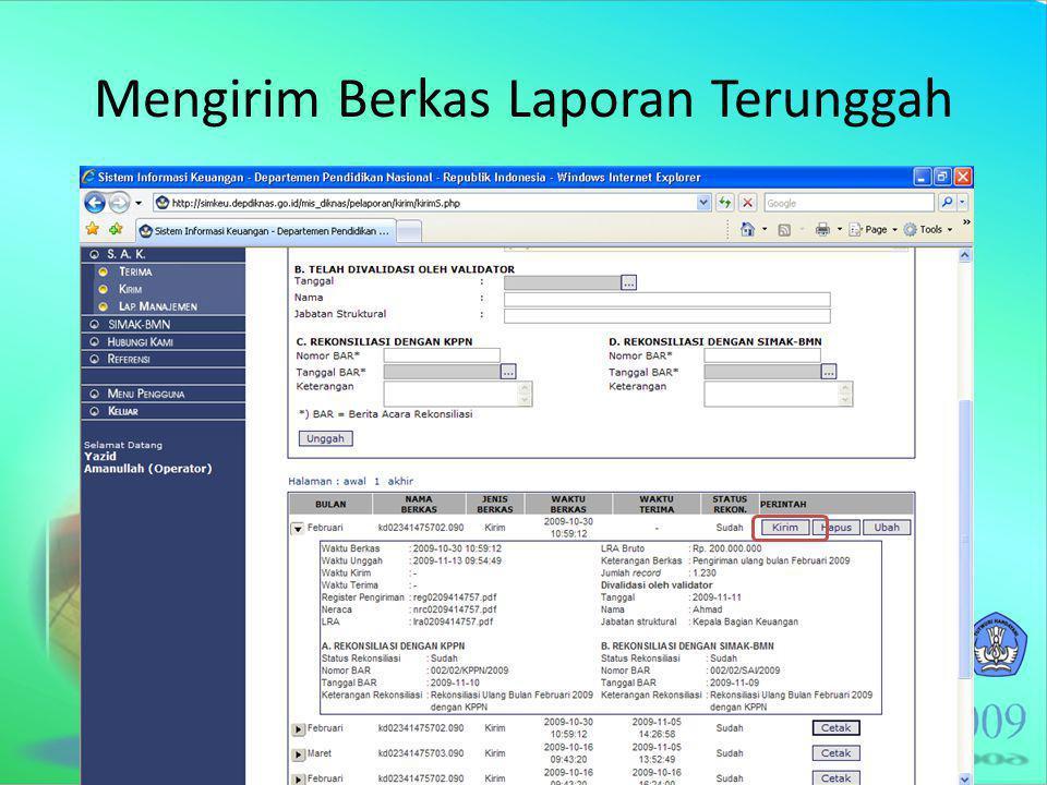Mengirim Berkas Laporan Terunggah