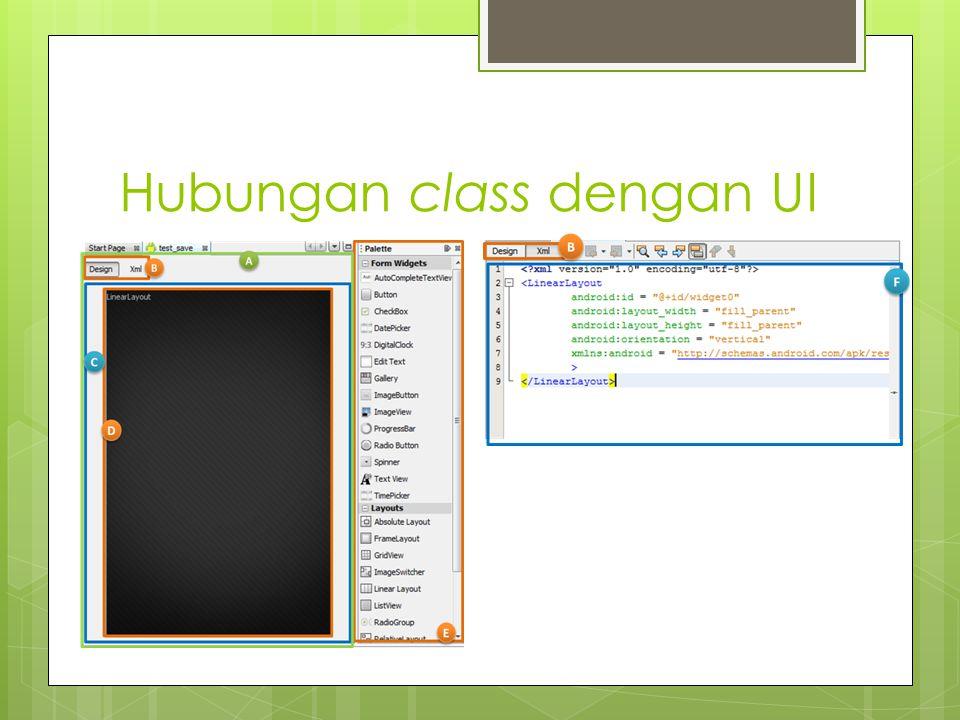 Hubungan class dengan UI