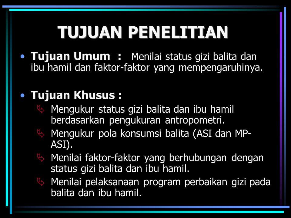 BAHAN DAN METODE Lokasi : Kabupaten Gorontalo Di pilih 6 wilayah kecamatan Setiap kecamatan dipilih 2 desa.