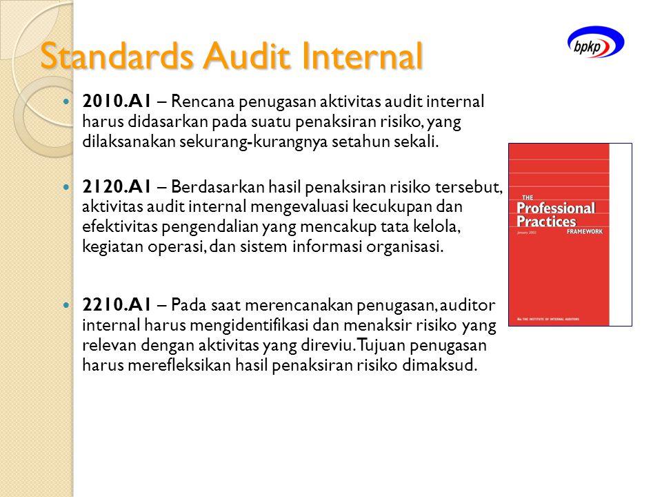 Standards Audit Internal  2010.A1 – Rencana penugasan aktivitas audit internal harus didasarkan pada suatu penaksiran risiko, yang dilaksanakan sekur