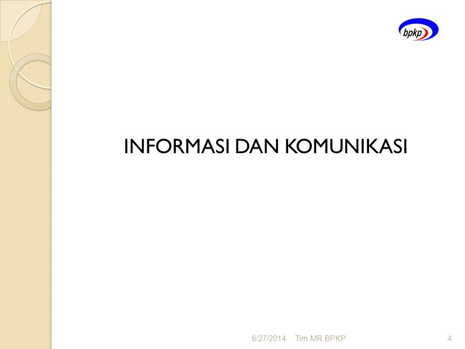 INFORMASI DAN KOMUNIKASI 6/27/2014Tim MR BPKP4