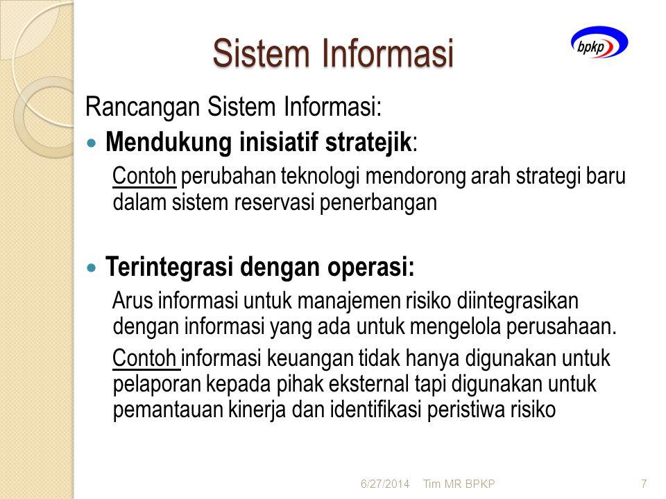 Sistem Informasi Rancangan Sistem Informasi:  Mendukung inisiatif stratejik : Contoh perubahan teknologi mendorong arah strategi baru dalam sistem re