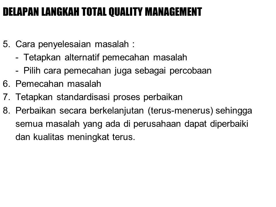 DELAPAN LANGKAH TOTAL QUALITY MANAGEMENT 5.
