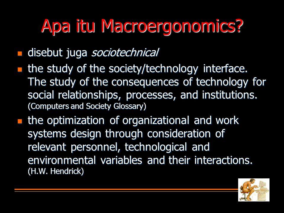 Apa itu Macroergonomics.